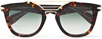Rag & Bone Cat-eye Tortoiseshell Acetate And Gold-tone Sunglasses