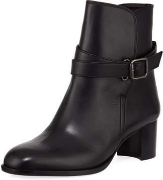 Manolo Blahnik Sulga Leather Ankle Boots