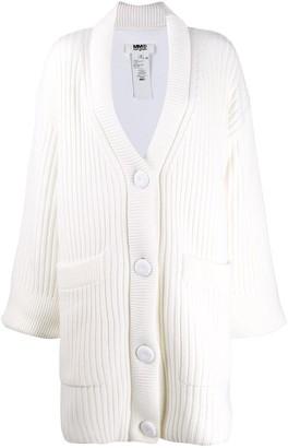 MM6 MAISON MARGIELA oversized chunky knit cardigan