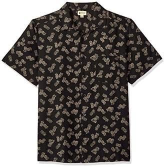 Haggar Men's Short Sleeve Texture Printed Shirts