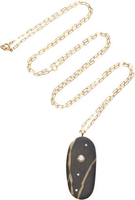 Cvc Stones Climb 18K Gold Stone And Diamond Necklace