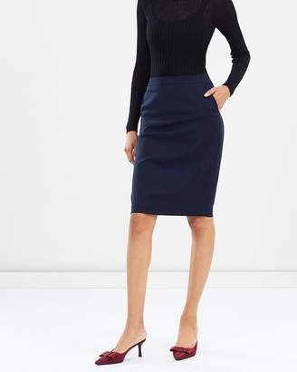 SABA Celeste Wool Suit Skirt