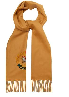 Burberry Archive logo-embroidered cashmere scarf