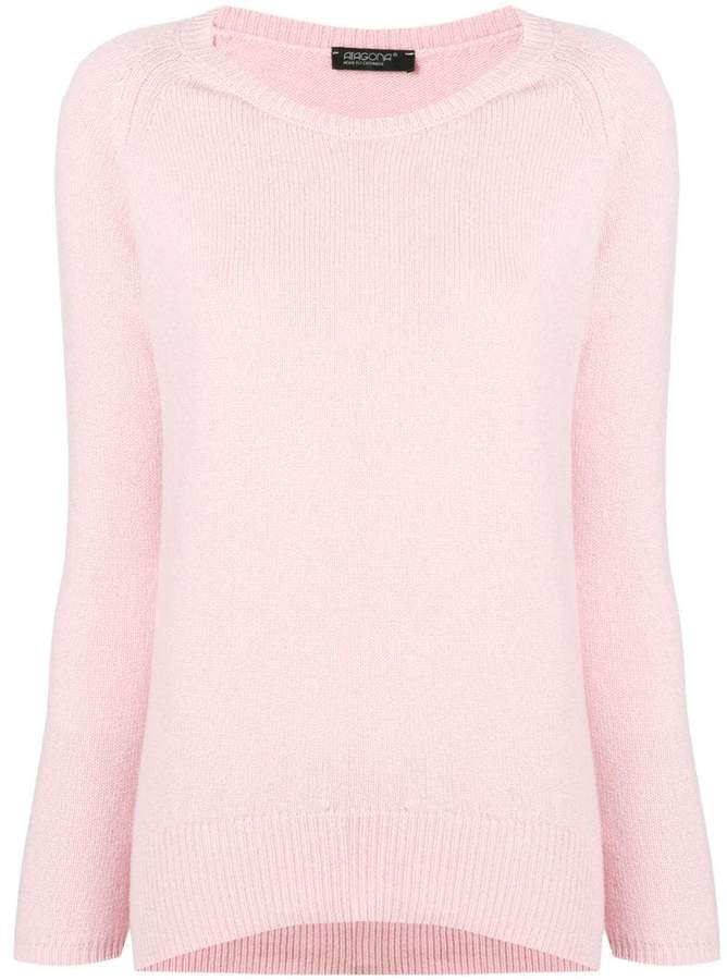 Aragona cashmere scoop neck sweater