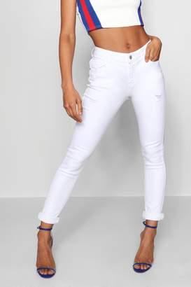 boohoo Megan Mid Rise Skinny Jeans