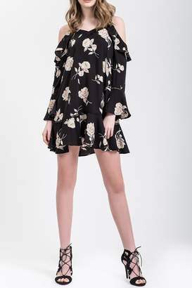 Blu Pepper Black Floral Dress