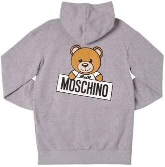 Moschino Teddy Bear Maxi Cotton Sweatshirt Hoodie