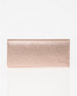 Le Château Jewel Embellished Metallic Foil Clutch
