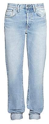 Acne Studios Women's Five-Pocket Cuffed Jeans