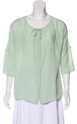 Calypso Long Sleeve Silk Blouse