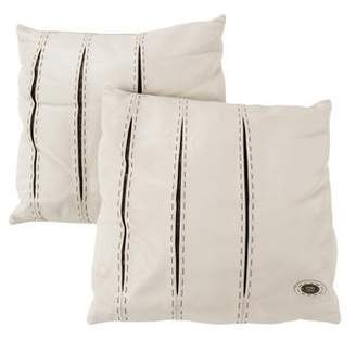 Fendi Pair of Leather Throw Pillows