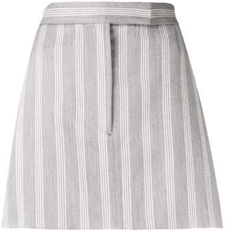 Thom Browne 4-Bar Repp Stripe Miniskirt