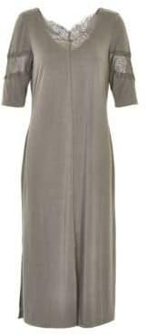 Cream Chima Lace Inset Dress