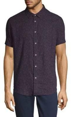 Calvin Klein Jeans Bandana-Print Cotton Button-Down Shirt