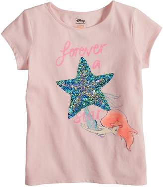 "Disneyjumping Beans Disney's The Little Mermaid Ariel Toddler Girl ""Forever A Star"" Fitted Tee by Jumping Beans"