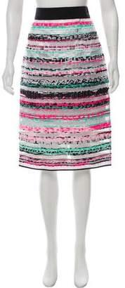 Milly Striped Knee-Length Skirt