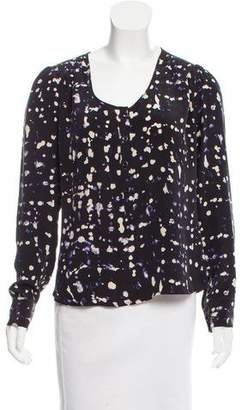 Ulla Johnson Printed Silk Top