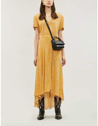 BA&SH Betina graphic-pattern crepe mini dress