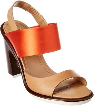 Tod's Satin & Leather Sandal