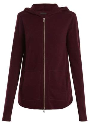 Atm - Zip Through Wool And Cashmere Blend Sweater - Womens - Burgundy