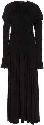 Lemaire Silk-Blend Long Sleeve Smock Dress