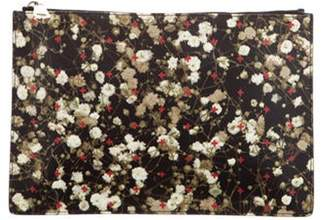 Givenchy Floral Print Coated Canvas Black Floral Print Coated Canvas