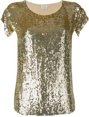 P.A.R.O.S.H. gold sequin top