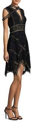 Thurley Fit-&-Flare Cold-Shoulder Dress
