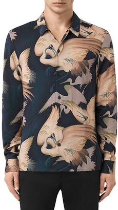 ALLSAINTS Wader Slim Fit Button-Down Shirt $165 thestylecure.com