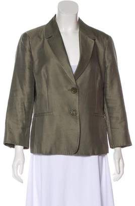 Max Mara Notched-Lapel Button-Up Blazer