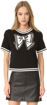 Boutique Moschino Short Sleeve Top $475 thestylecure.com