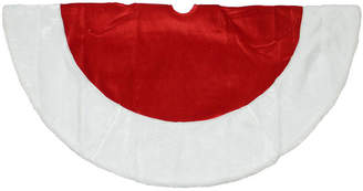 Asstd National Brand 48 Traditional Red Velveteen Christmas Tree Skirt with White Faux Fur Trim