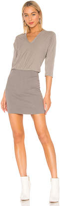 James Perse Mixed Media Blouson Dress