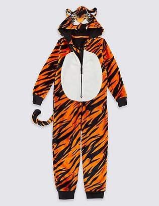 Marks and Spencer Tiger Fleece Onesie (1-16 Years)