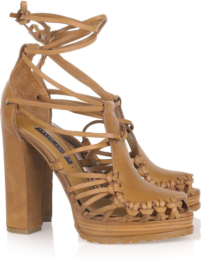 Ralph Lauren Collection Sherene leather sandals