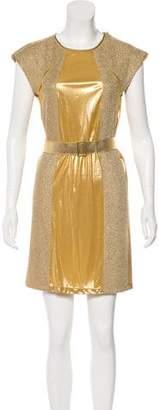 Bottega Veneta Metallic Mini Dress w/ Tags