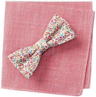 Original Penguin Daisy Floral Bow Tie & Pocket Square 2-Piece Set $55 thestylecure.com
