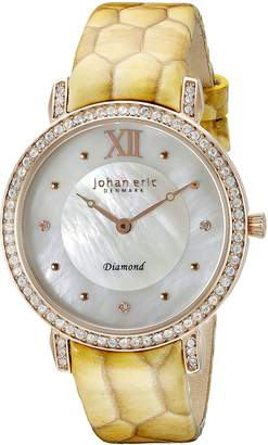 Johan Eric Women's JE7000-09-009.09 Ribe Analog Display Quartz Yellow Watch