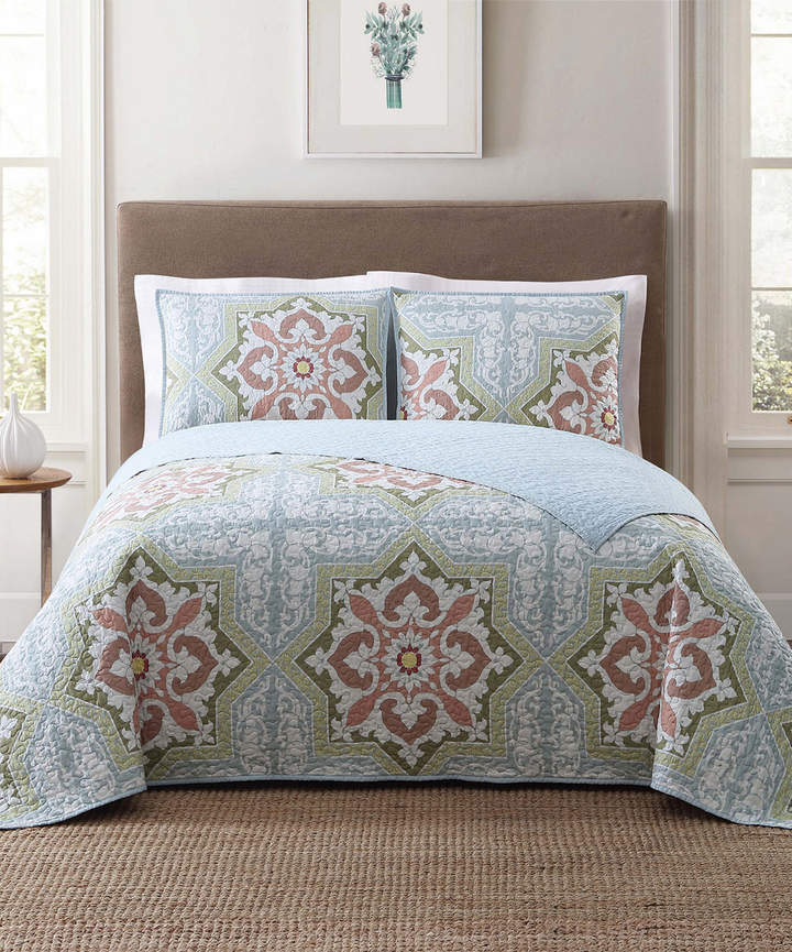 Style 212 Green Sheffield Quilt Set