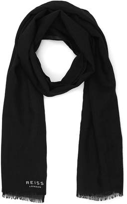 Reiss Billings - Lightweight Scarf in Black
