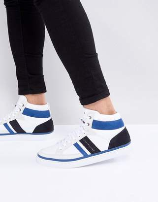 Tommy Hilfiger Maze High Top Sneakers In White