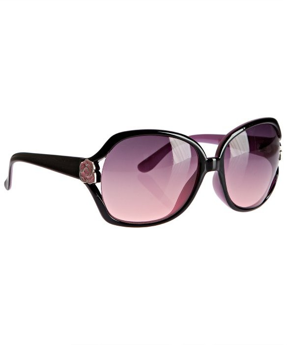 Betsey Johnson tortoise plastic oversized sunglasses