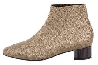 Clergerie Woven Round-Toe Ankle Boots