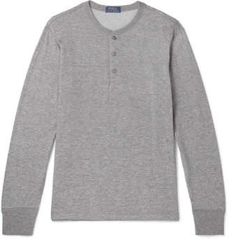 Polo Ralph Lauren Mélange Cotton-Blend Jersey Henley T-Shirt