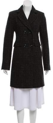 DKNY Wool-Blend Knee-Length Coat