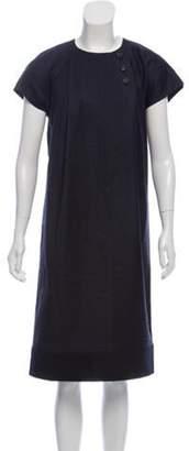 Derek Lam Wool Midi Dress Navy Wool Midi Dress