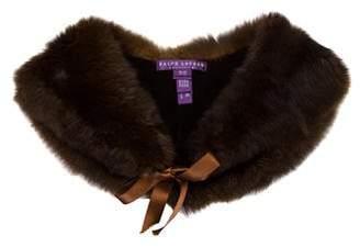 Ralph Lauren Purple Label Fur Collar Shawl