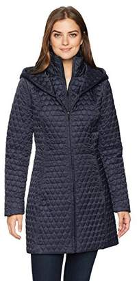 Lark & Ro Women's Shawl Collar Quilted Jacket