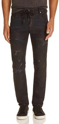 Diesel Krooley Coated Slim Fit JoggJeans in Denim $398 thestylecure.com