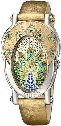 Brillier Women's 19-02 Gd Royal Plume Analog Display Swiss Quartz Watch